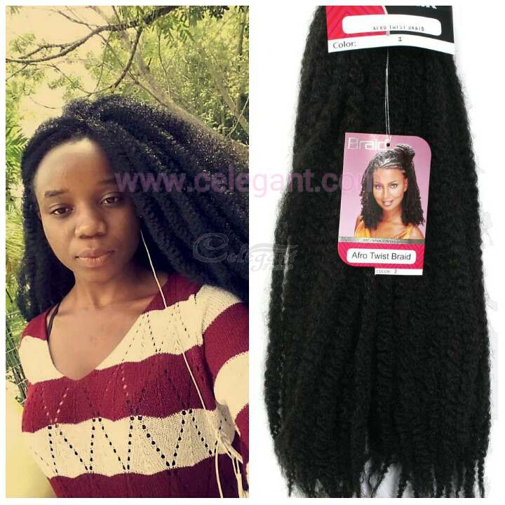 Supreme Royal Silk Afro Twist Braid Synthetic Hair Celegant Fashion