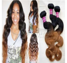 8A Grade Full and thick body wave Indian 2 tone ombre 100% remy human hair extension