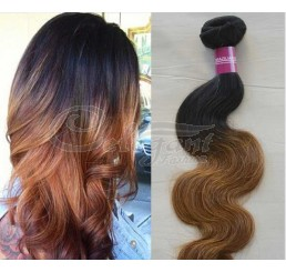 8A Grade Full and thick body wave Malaysian 2 tone ombre 100% remy human hair extension
