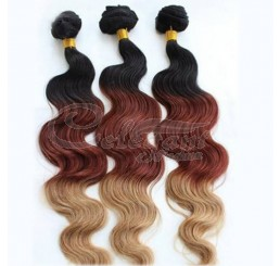 8A Grade Silky Soft and Clean 100% Raw Unprocessed Indian 3 tone color ombre human hair