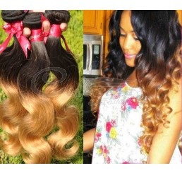 8A Grade Silky Soft and Clean 100% Raw Unprocessed Malaysian 3 tone color ombre human hair
