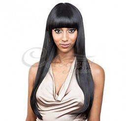 Grade 8A Brazilian Straight Fringe unprocessed virgin hair Lace Front wig