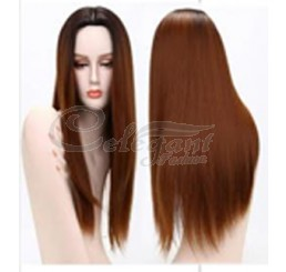 Synthetic hair long ombre wig for fashion woman