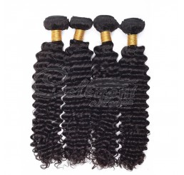 (3 Bundles) 7A Grade Silky Soft and Clean 100% Raw Unprocessed Brazilian Hair Deep Wave