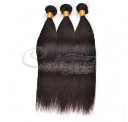 (3 Bundles) 7A Grade 100% Remy Brazilian Straight virgin hair weave