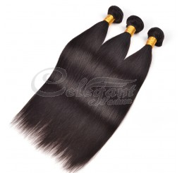 (3 Bundles) 7A Grade 100% Remy Indian Straight virgin hair weave