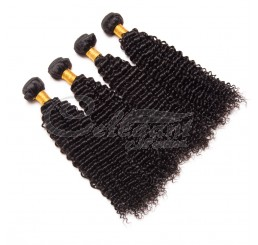 (3 Bundles) 8A Grade 100% Raw Unprocessed Indian kinky curly human hair weave