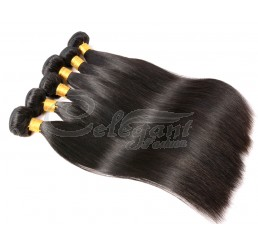 (3 Bundles) 8A Grade 100% Remy Malaysian Straight virgin hair weave