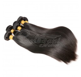 (3 Bundles) 8A Grade 100% Remy Peruvian Straight virgin hair weave