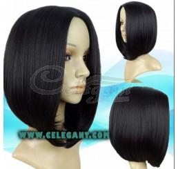 Quality synthetic short straight wig style for african american women