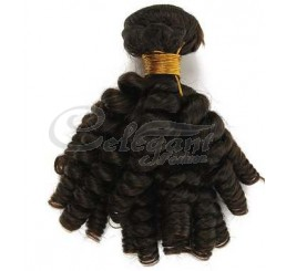 (3 Bundles) 8A Aunty Funmi Brazilian Virgin Natural Black Human Hair Extension Bouncy Curly