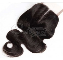 "Top closure hair lace closure swiss lace 4""*4"" body wave no shedding and tangle free"
