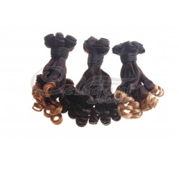 (3 Bundles) 7A Aunty Funmi Brazilian Virgin Natural Black Human Hair Extension Bouncy Curly