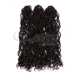 GODDESS FEATHER-TIP FAUX LOCS  (18 Inches)