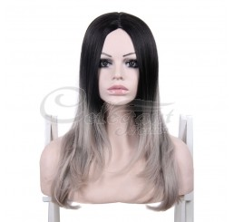 Nice Stylish synthetic hair wigs medium length straight ombre wig for women