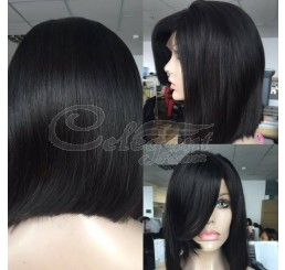 Grade 8A Straight Bob unprocessed virgin Lace Front wig
