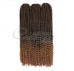 CURLY-TIP FAUX LOCS  (18 Inches)