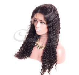 GRADE 8A HUMAN HAIR DEEP WAVE LACE FRONT WIG