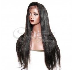 Grade 8A Human Hair Straight Lace Front Wig