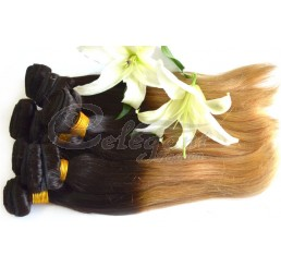 8A Grade Full and thick 100% Remy Peruvian virgin two tone ombre straight hair weave (3 Bundles)